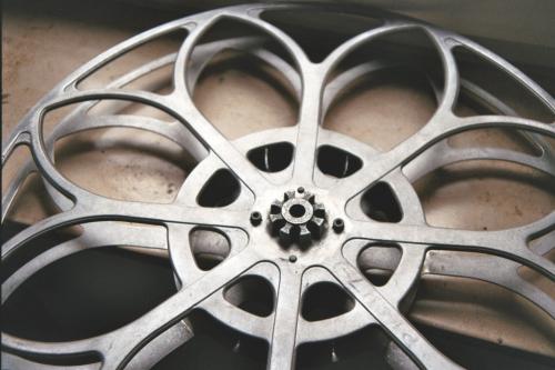 35mm-Filmspule aus Aluminiumguss