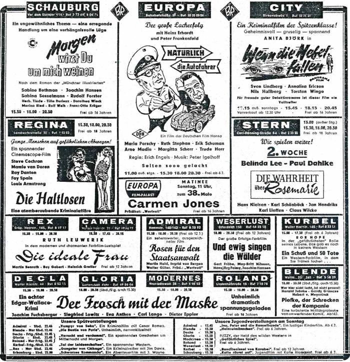 bremer kinowerbung 1959