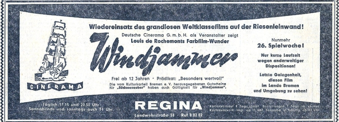 windjammer in cinerama