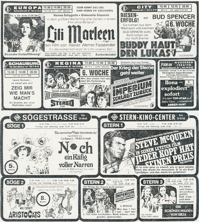 Kinowerbung 1981