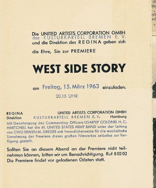 Einladung zur West Side Story